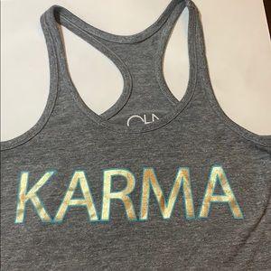 CHASER 'Karma' Tank Gray Racerback SZ M